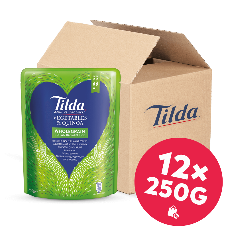 Tilda Vollkorn-Basmati mit Gemüse & Quinoa 12x250g