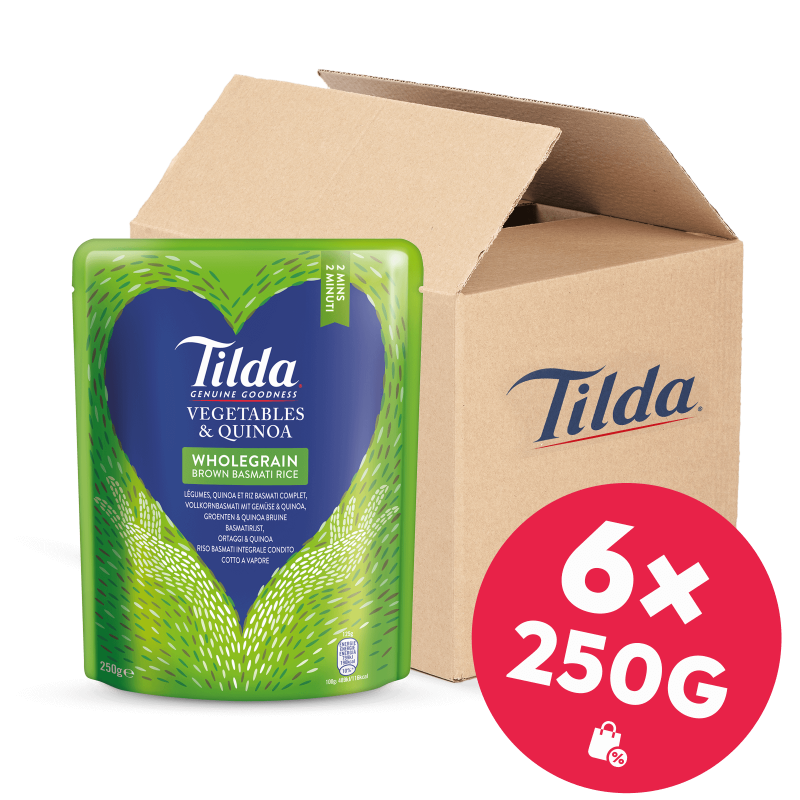 Tilda Vollkorn-Basmati mit Gemüse & Quinoa 6x 250g