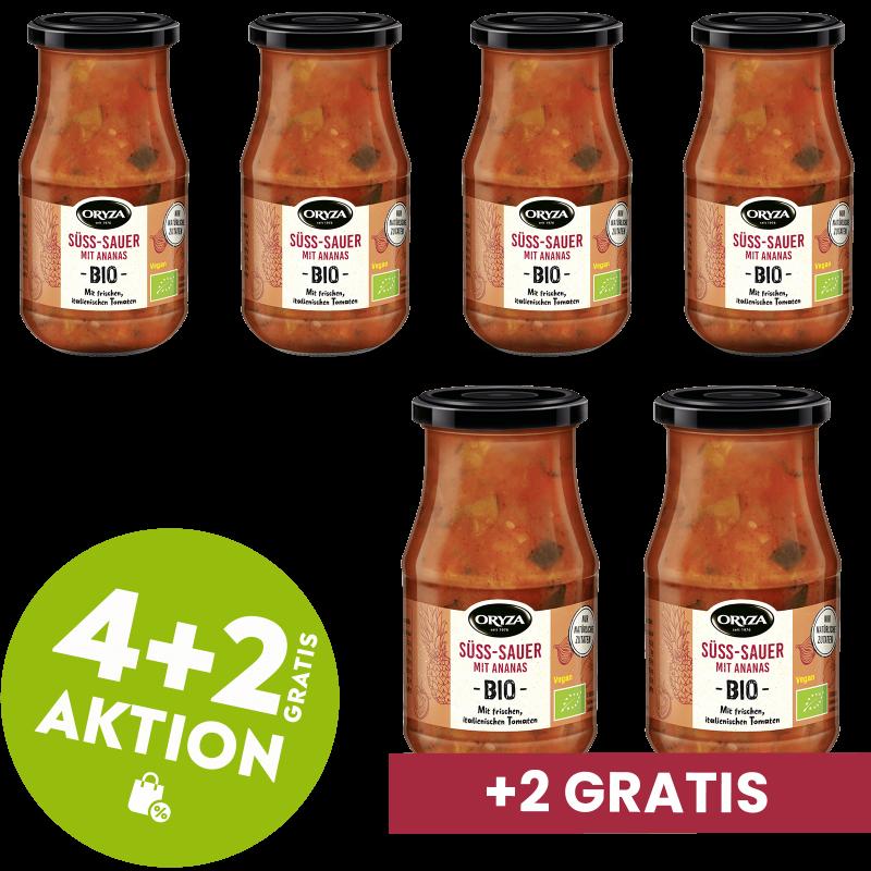 ORYZA BIO Sauce Süß-Sauer 4+2 gratis