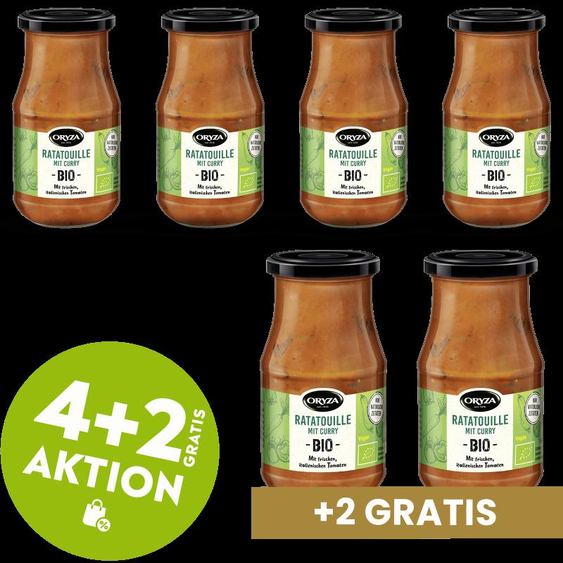 ORYZA BIO Sauce Ratatouille 4+2 gratis