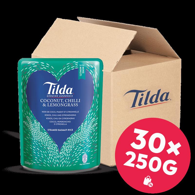 Tilda Kokos, Chili & Zitronengras 30x250g