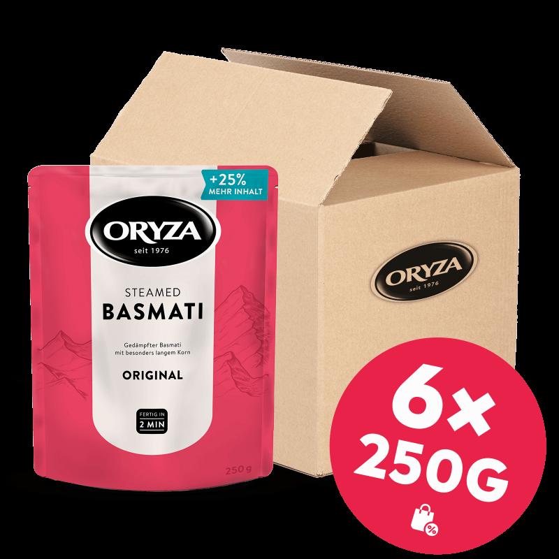 ORYZA Steamed Basmati Original 6x 250g