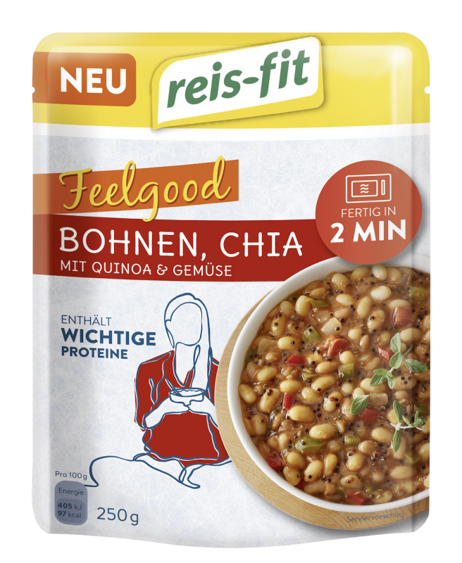 reis-fit Feelgood Bohnen, Chia 250g