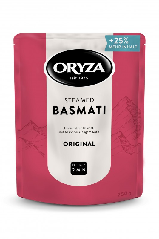 ORYZA Steamed Basmati Original 250g