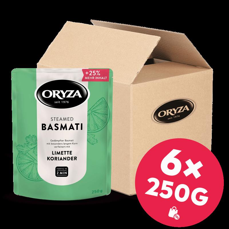 ORYZA Steamed Basmati Limette & Koriander 6x 250g
