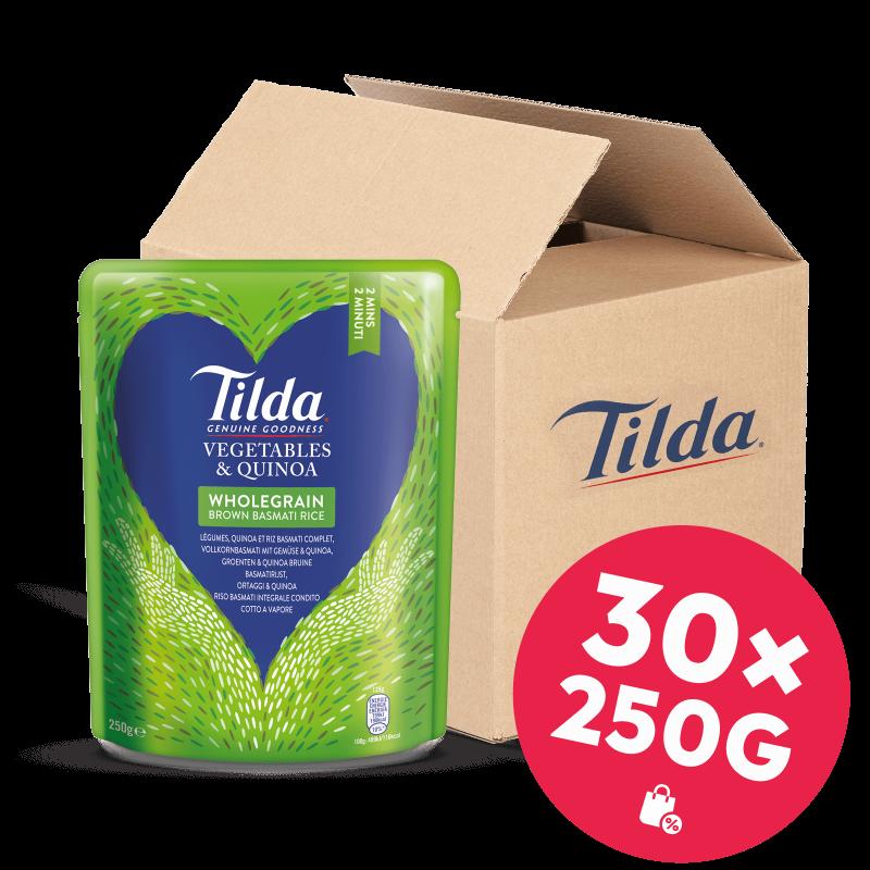 Tilda Vollkorn-Basmati mit Gemüse & Quinoa 30x250g