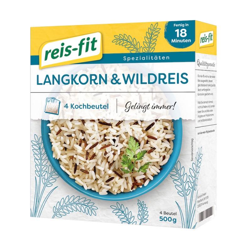 reis-fit Langkorn & Wildreis 500g