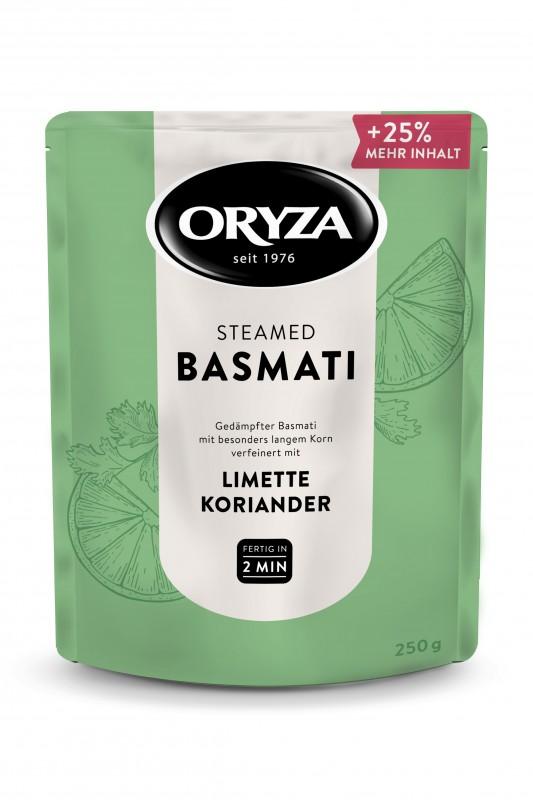 ORYZA Steamed Basmati Limette & Koriander 250g