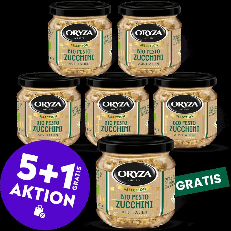 ORYZA Bio Pesto Zucchini 5+1 gratis
