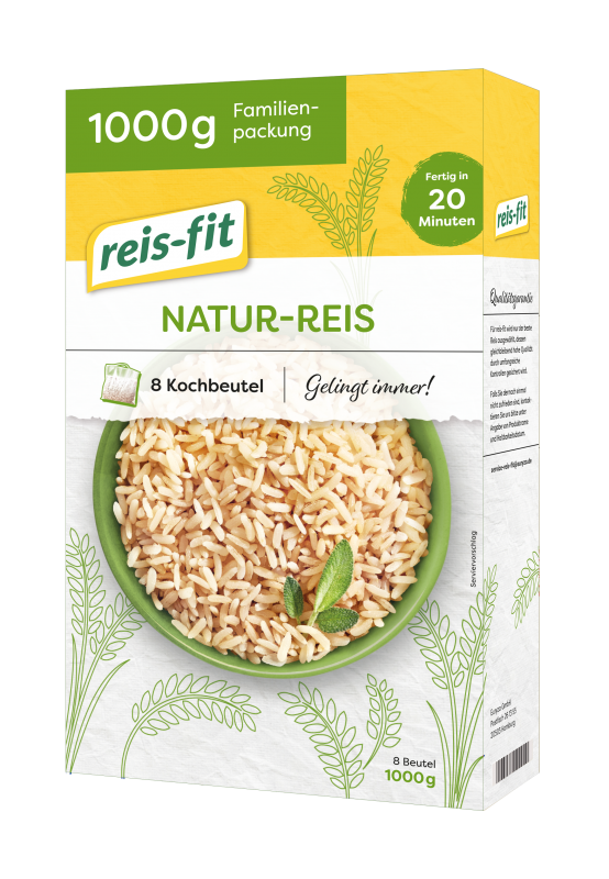 reis-fit 20 Minuten Natur-Reis 7x1kg