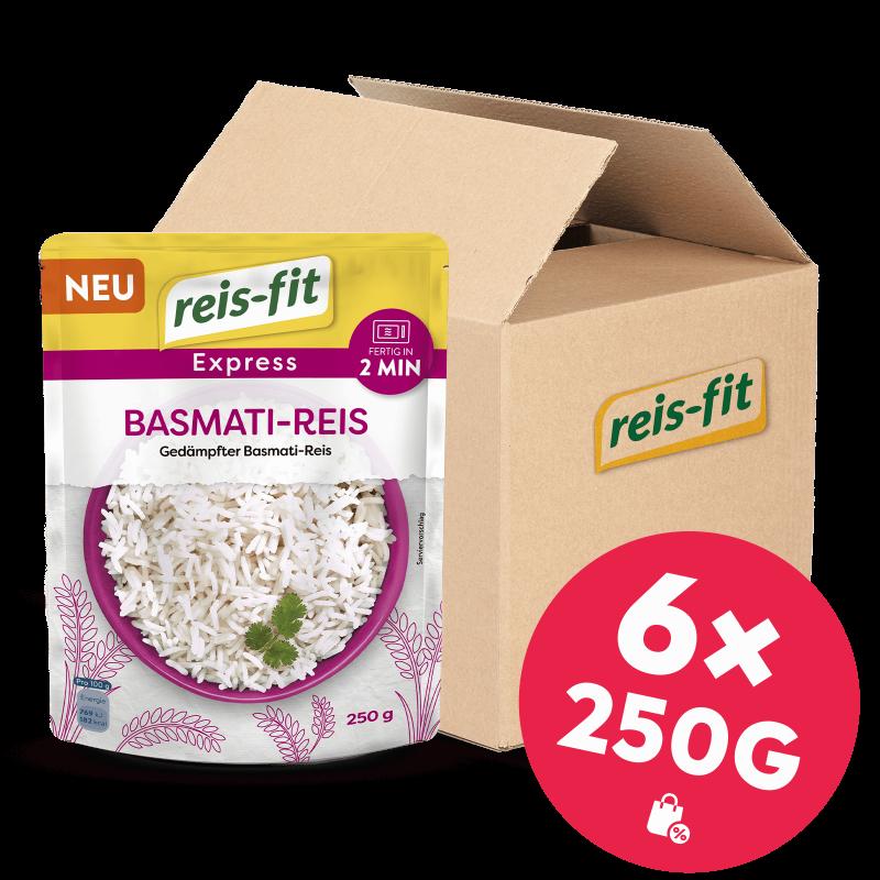 reis-fit Express Basmati-Reis 6x 250g