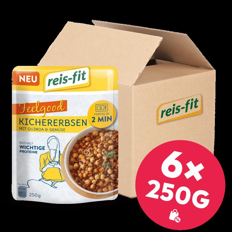reis-fit Feelgood Kichererbsen 6x 250g