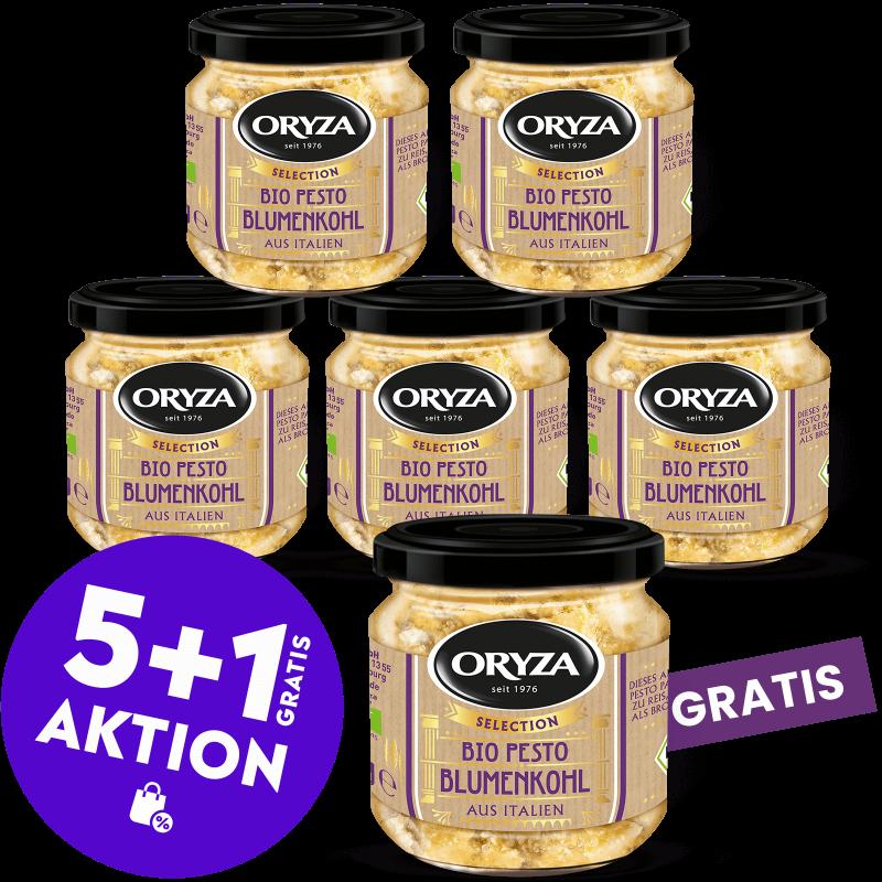 ORYZA Bio Pesto Blumenkohl 5+1 gratis