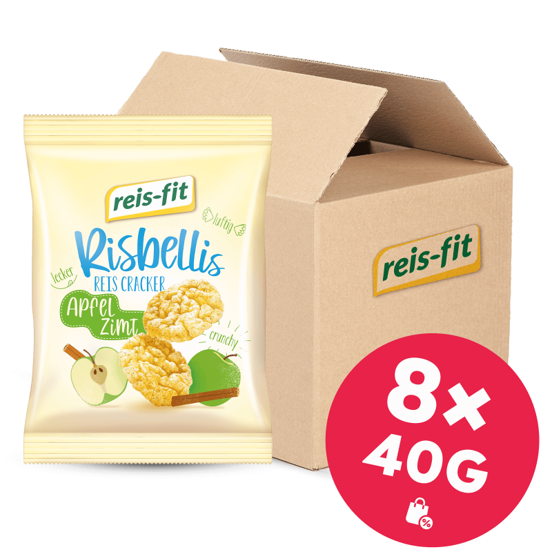 reis-fit Risbellis Apfel & Zimt 8x40g