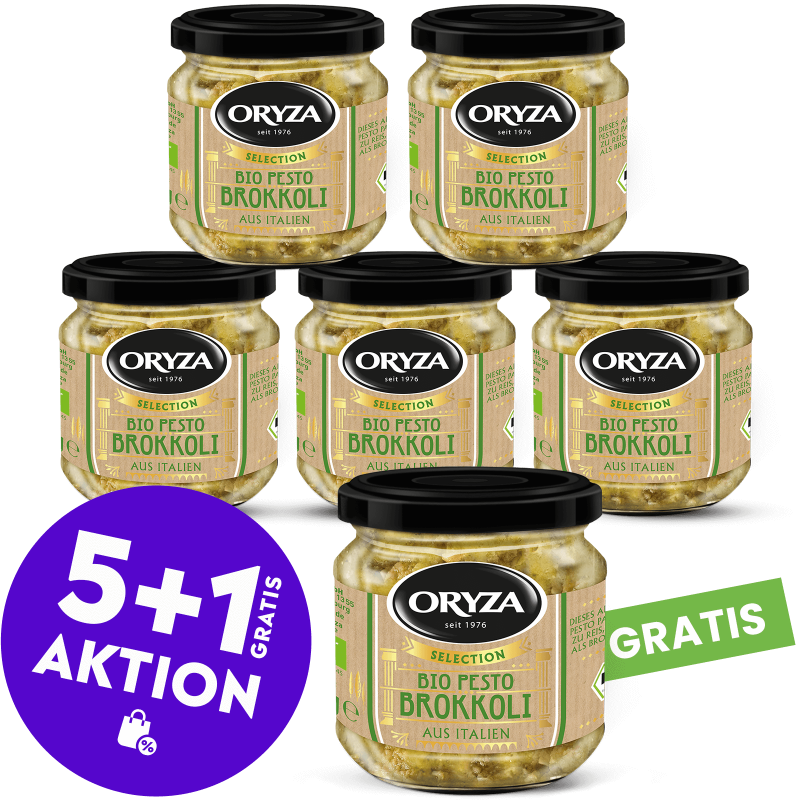 ORYZA Bio Pesto Brokkoli 5+1 gratis